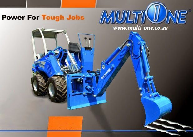 """MultiOne Backhoe Attachment, power for tough jobs!  Find us on www.multi-one.co.za and facebook """"MultiOne SA"""""""