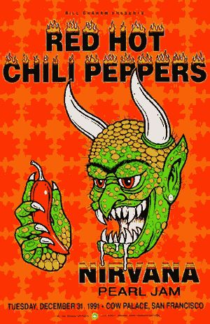 Red Hot Chili Peppers, Nirvana, Pearl Jam