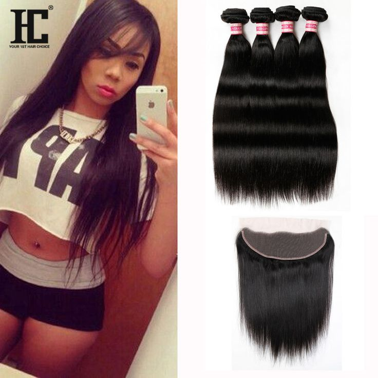 Top 7A Mink Brazilian Virgin Hair With Closure Ear To Ear Lace Frontal Closure #HCHair #StraightBundle