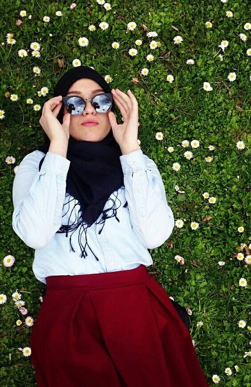 How to wear sunglasses with hijab…