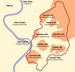 Sete colinas de Roma – Wikipédia, a enciclopédia livre