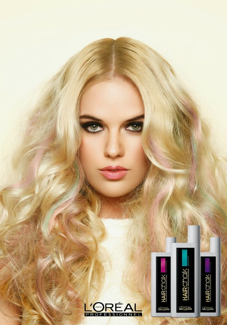L'oreal Hair Chalks- got to put some pink in my hair today at work with this stuff! Absolutely in love with this product !