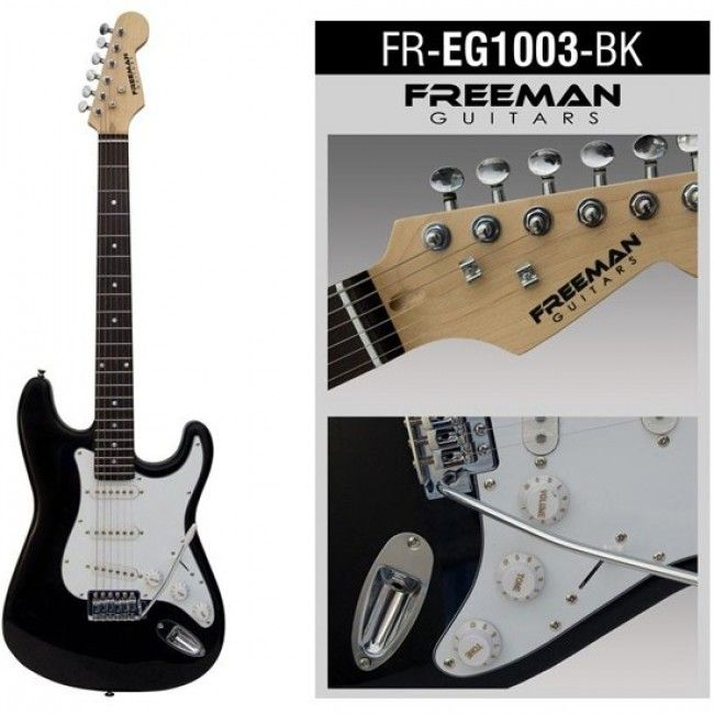 Guitarra eléctrica FREG1003, color negro 50000  12  cuotas