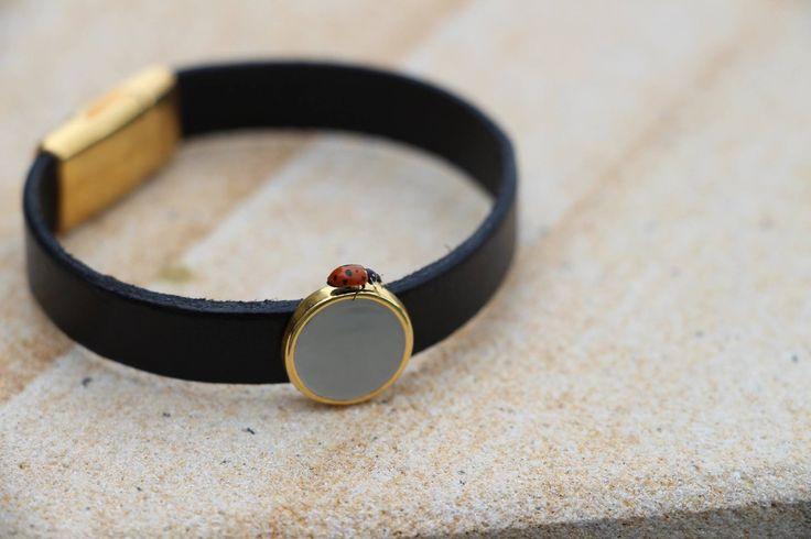 """Leather bracelet """"Luna"""""""