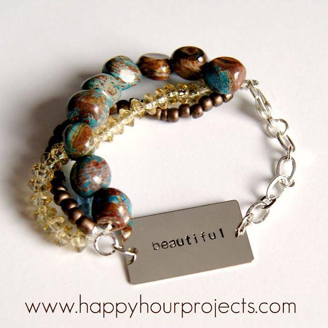 great bracelet: Bracelet Tutorial, Craft, Jewelry Making, Bracelets, Metal Stamping, Diy Jewelry, Jewelry Ideas