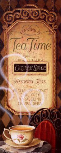 Tea Time Menu, by Lisa Audit