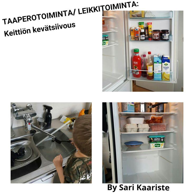 By Sari Kaariste : TAAPEROTOIMINTA/ LEIKKITOIMINTA: Keittiön kevätsiivous!
