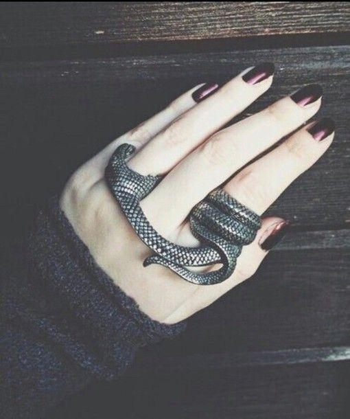 jewels grunge dark snake snake ring ring silver cool grunge jewelry grunge wishlist hardcore