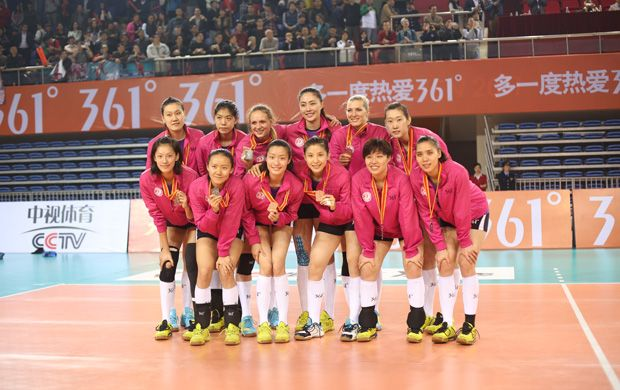EBLS win the second prize of 2014-2015 China Women's Volleyball League!