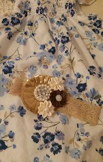 Headbandslatina              : Banda crema con flor dorada, crema y marrón