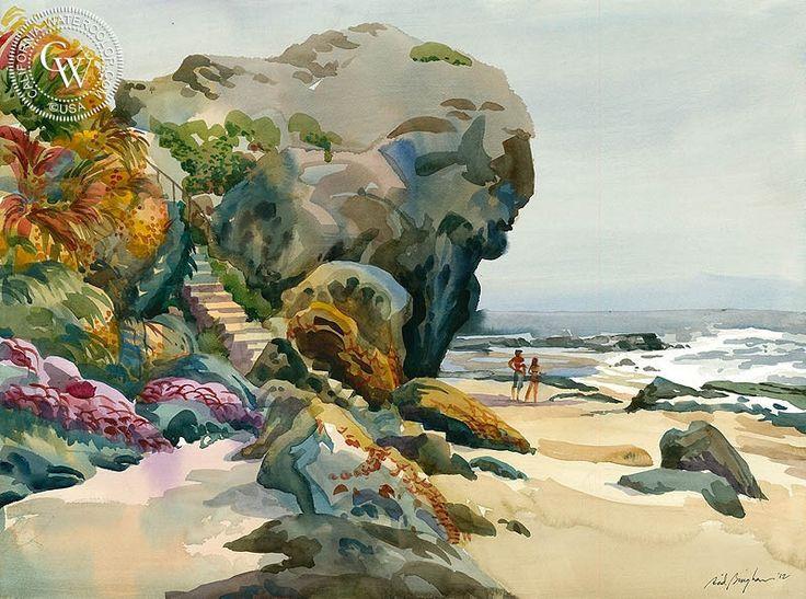 Laguna Steps – California Watercolor