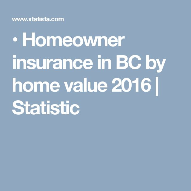 •  Homeowner insurance in BC by home value 2016 | Statistic