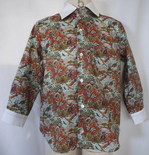 いろんな動物が書かれたインパクトのある男の子のシャツです。トラや象・蝶・カメ・サイ・パンダなど見てて楽しい柄です。とてもインパクトがありますのでとても目立ちま...|ハンドメイド、手作り、手仕事品の通販・販売・購入ならCreema。