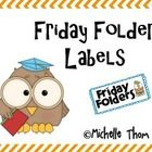 Use one of these labels to create a Friday Folder bin!  Tips for use included with this FREEBIE! ...