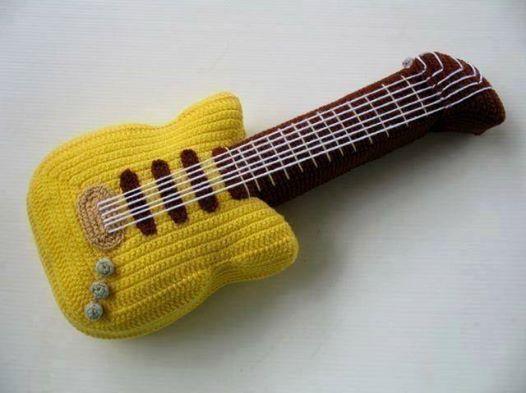 Amigurumi Guitarra Electrica : 17 mejores imagenes sobre Y Crochet musical instruments en ...