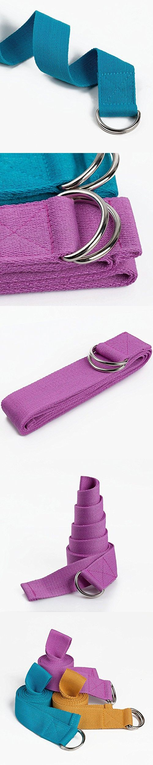 Pure Cotton Yoga Belt Fitness Straps with Tension, Thickening & Extended Jump Hold Brace 3.8X183 cm (1.571.5 inch)