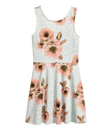 Jerseykjole | Grå/Blomstret | Børn | H&M DK