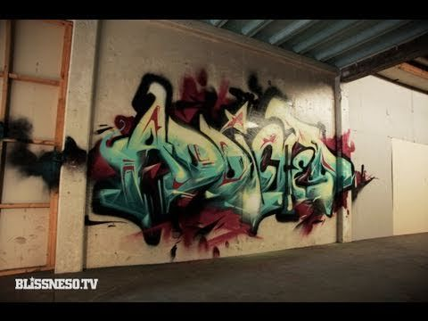 Bliss N Eso - Addicted (Official Video Clip) - YouTube features graffiti art from Askew One