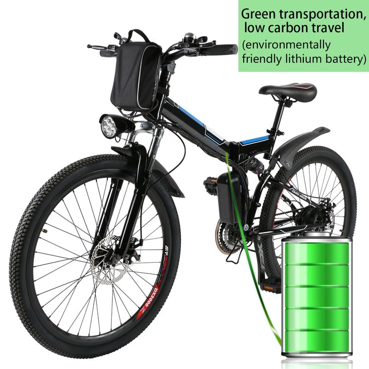 """Foldable Electric Mountain Bike 26"""" with 36V 8AH Large Capacity Lithium-Ion Battery, Electric Bicycle with 250W Brushless Motor, Premium Full Suspension and Shimano Gear"""