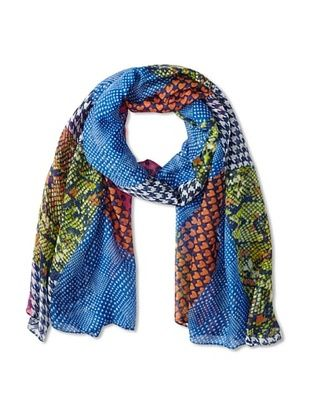 58% OFF Jules Smith Women's Mixed Pattern Scarf, Blue Multi
