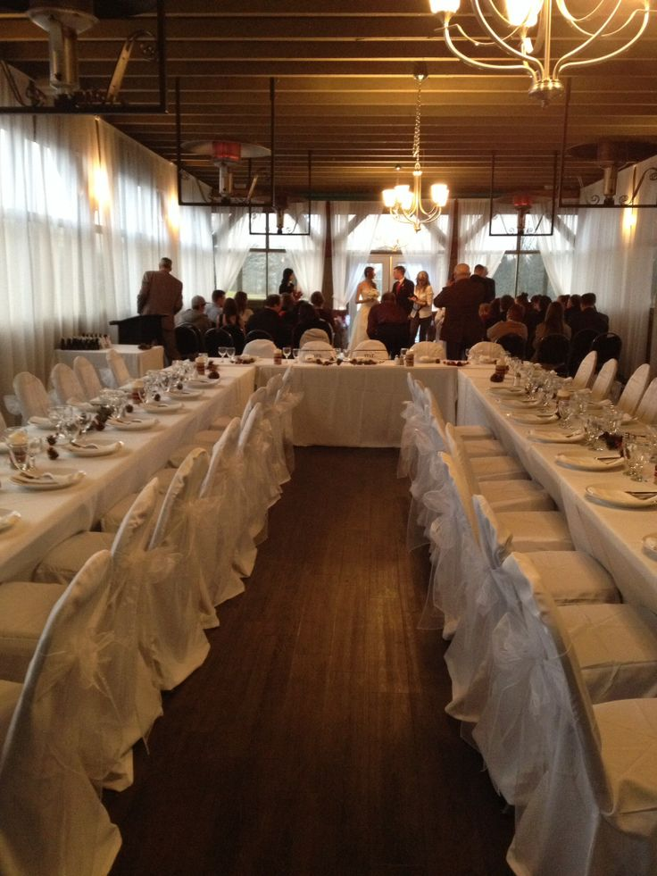 Save money and have your ceremony and reception in the same room. Works well for small gatherings, tight budgets and winter/ fall weddings.