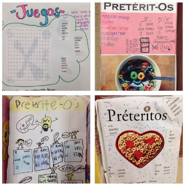 Preterito-Os Cereal Boxes- Absolutely Love This Project To