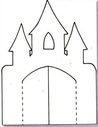 Castle with opening doors. Sandra's Scrapsels...: Kasteelkaart