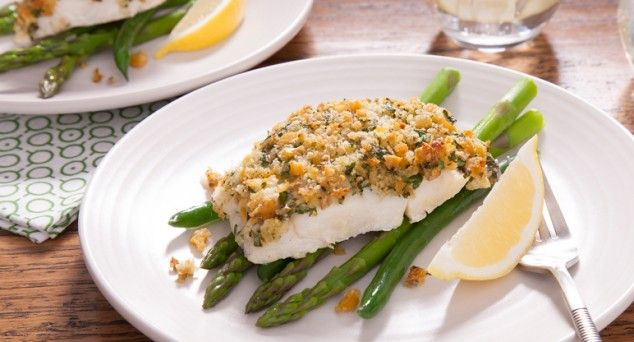 Pop this Parmesan & Parsley Crusted Fish in the oven for a delicious meal.  #recipe #fish #dinner