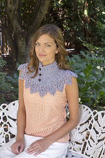 Vintage Lace Collar - free crochet pattern by Downton Abbey Yarn Collection Design Team on the Cup of Sugar Website in French and English.