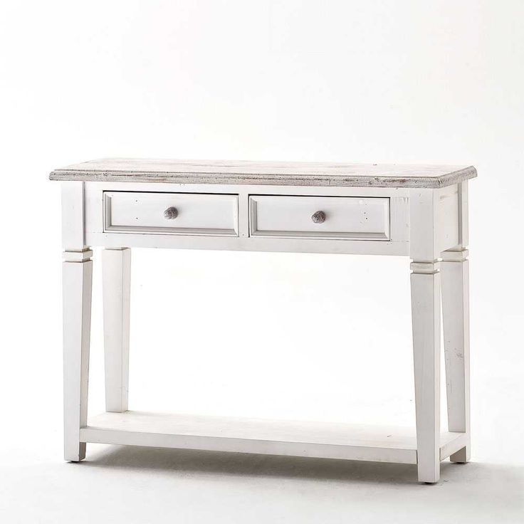 Opal Console Table In White Pine With 2 Drawers   25379 Browse Our Cool  Range Of Console Tables, Here At Furniture In Fashion.