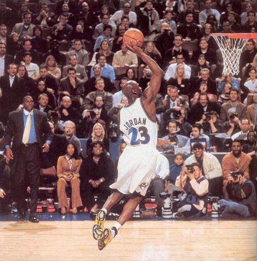 Possibly Michael Jordan's last dunk in his Nba Career
