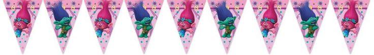 Trolls Vimpel Guirlande - 230 cm