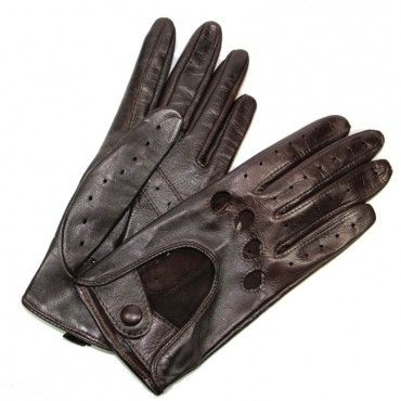 Gants de Conduite Femme Cuir Brun Choco Glove Story