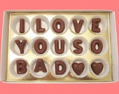 Cyber Monday Etsy I Love You-Custom His Her Your Name-Large Milk Chocolate Letters-Valentines Gift for Boyfriend Girlfriend. $25.49, via Etsy.