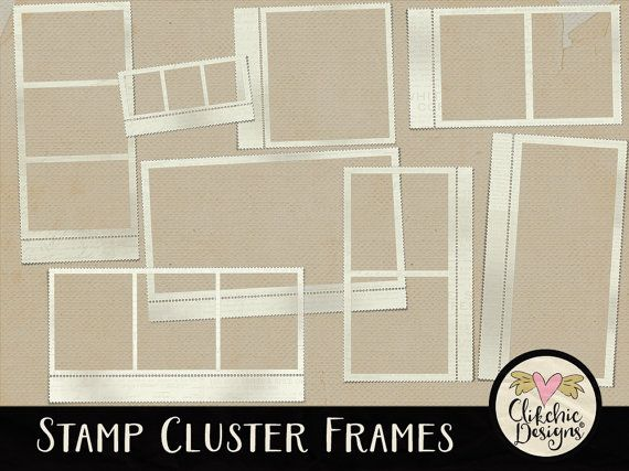 Stamp Digital Frames Clip Art  Stamp Frames by ClikchicDesign
