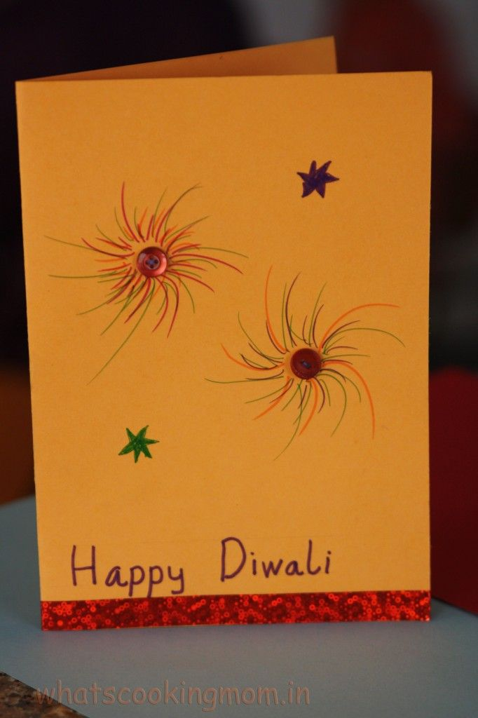 Handmade cards for Diwali | whatscookingmom.in