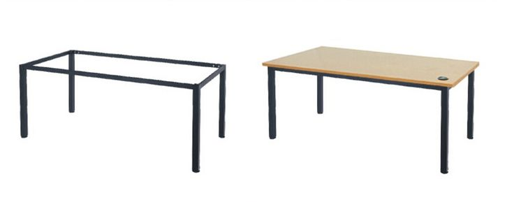 T06 Classroom Desk 1200 x 500 x 730 White Top with Black Frame (white top not pictured)