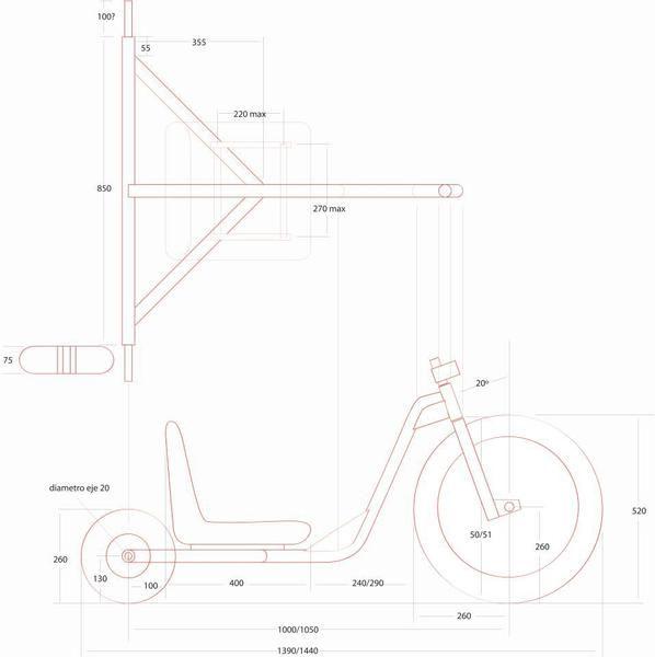 Voici diff rents plans de fabrication drift trike - Fabriquer une table elevatrice moto ...