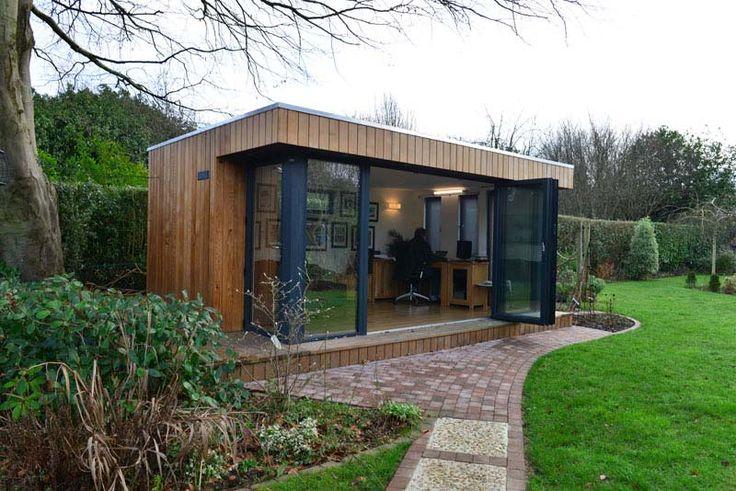Contemporary Garden Office BiFold Doors