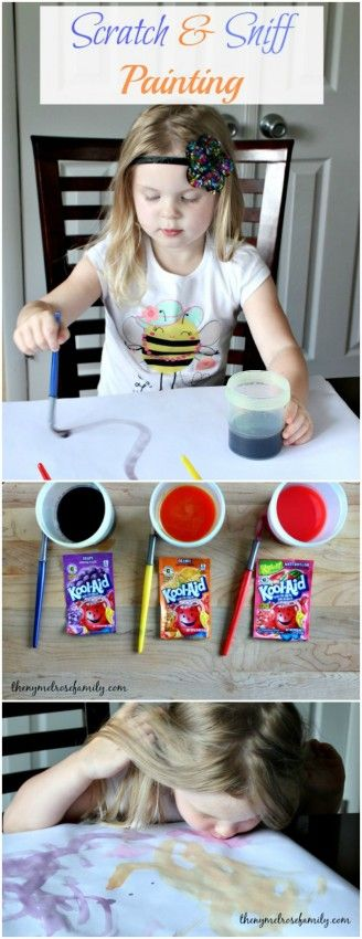 Kids Activity Scratch and Sniff Painting from NY Melrose Family art messy sensory