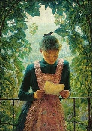 First letter by Angelo Morbelli born July 18, 1853
