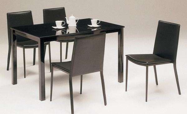 4人掛ダイニングセットAn 黒ブラック食卓テーブルツヤ鏡面 北欧 インテリア 雑貨 家具 Modern dining table ¥29800yen 〆05月06日