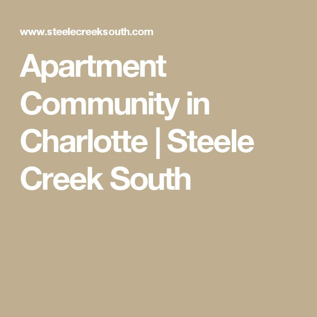Apartment Community in Charlotte | Steele Creek South