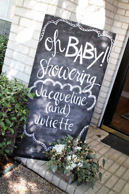 Chalkboard Sign for shower entrance. Maybe we use my small chalk board with an arrow and balloons to point to Shower @Alyson Fetherolf @Amanda Hagedorn