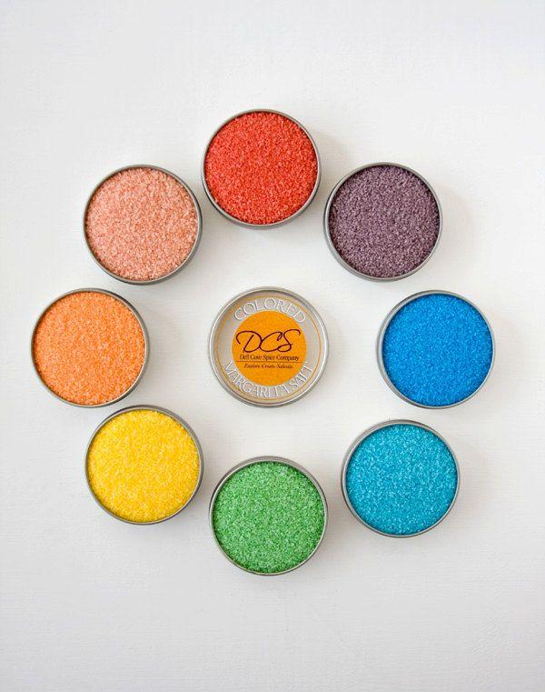 Colored margarita salt