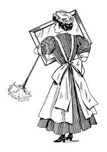 Image result for victorian cleaning ladies