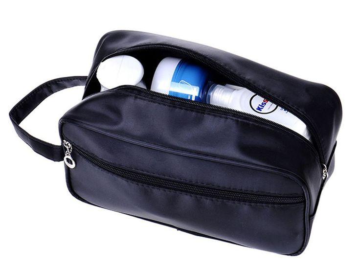 Mens Toiletry Bag Travel Shaving Case Overnight Gear Organizer Dopp Grooming Kit #iSuperb #ToiletryBag
