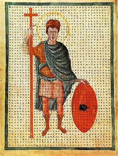 Louis the Pious (778 – 20 June 840), also called the Fair, and the Debonaire, was the King of Aquitaine from 781. He was also King of the Franks and co-Emperor (as Louis I) with his father, Charlemagne, from 813. As the only surviving adult son of Charlemagne, he became the sole ruler of the Franks after his father's death in 814, a position which he held until his death, save for the period 833–34, during which he was deposed. 37th G GRANDFATHER