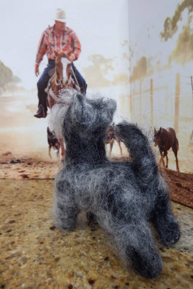 #Needle felting - such a pleasure to create with wool!  #Miniature Schnauzers ; #needle #felted #dogs