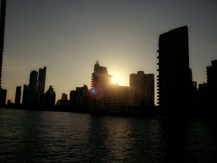 Sunset, cartagena